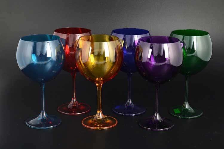 Клара Колорс Набор бокалов для вина 460 мл Crystalite Bohemia (6 шт)