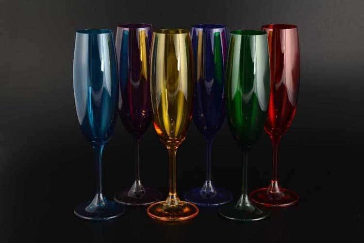 Клара Колорс Набор бокалов для шампанского 220 мл Crystalite Bohemia (6 шт)