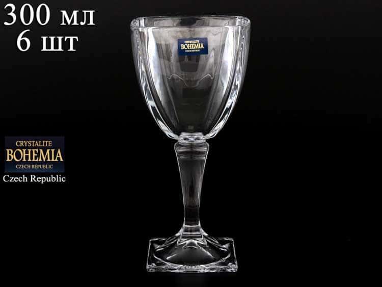AREZZO Набор бокалов для вина Crystalite Bohemia 300 мл
