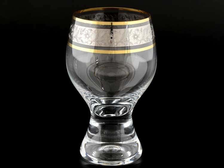 Джина платина Набор бокалов для вина 340 мл (6 шт) Bohemia Crystal
