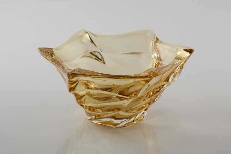Фламенко желтая Ваза для конфет Bohemia Treasury 20 см