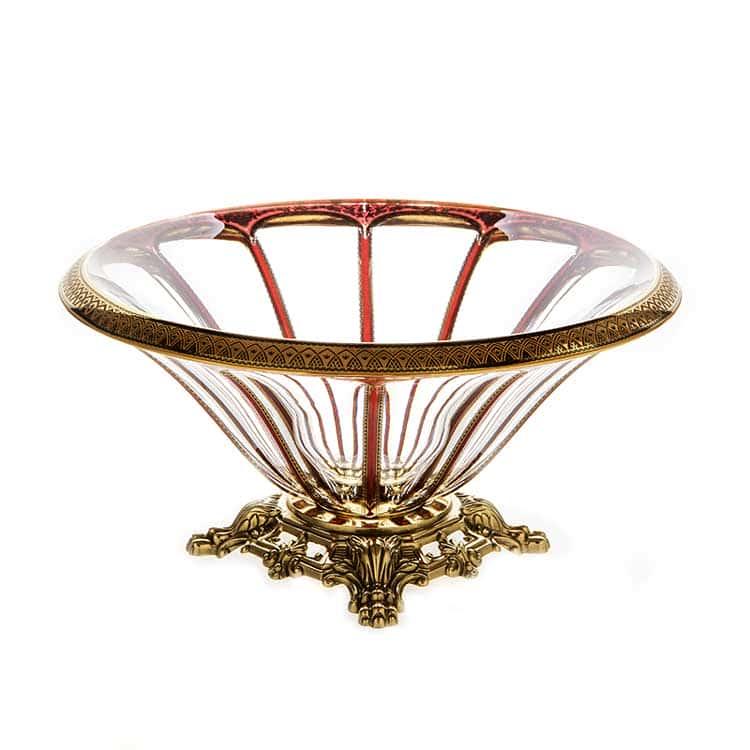 Панель Империя красная Ваза для фруктов 33 см Astra Gold