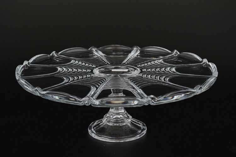 Орион Тарелка для торта Crystalite 31 см на ножке