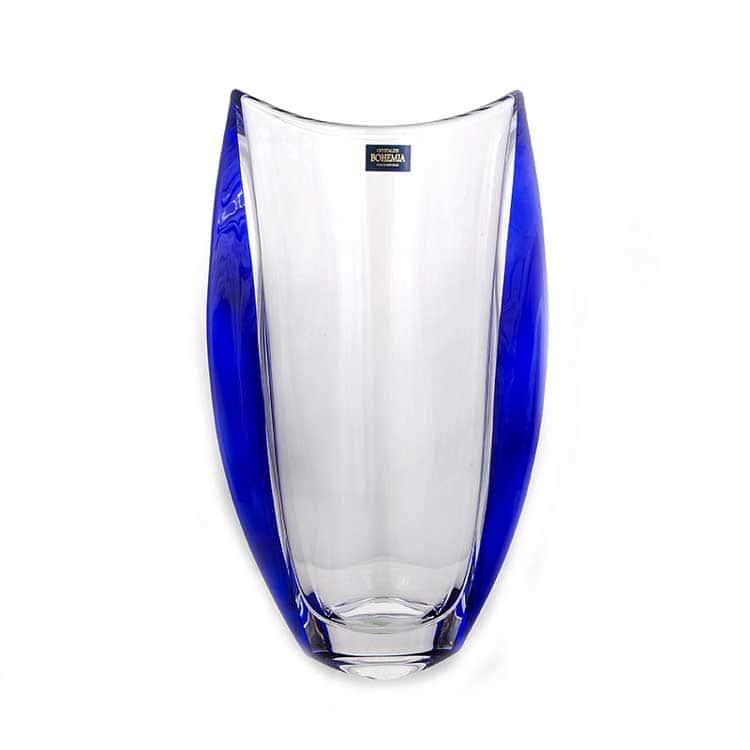 Орбит синий Ваза для цветов Crystalite Bohemia 30,5 см