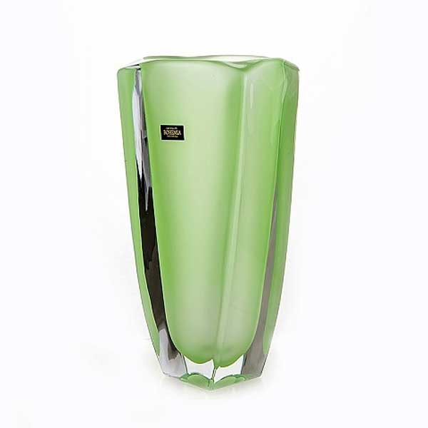 Ареззо зеленая Ваза для цветов Crystalite Bohemia 28 см