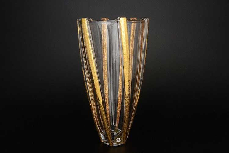 INFINITY gold Ваза для цветов Bohemia 30 см