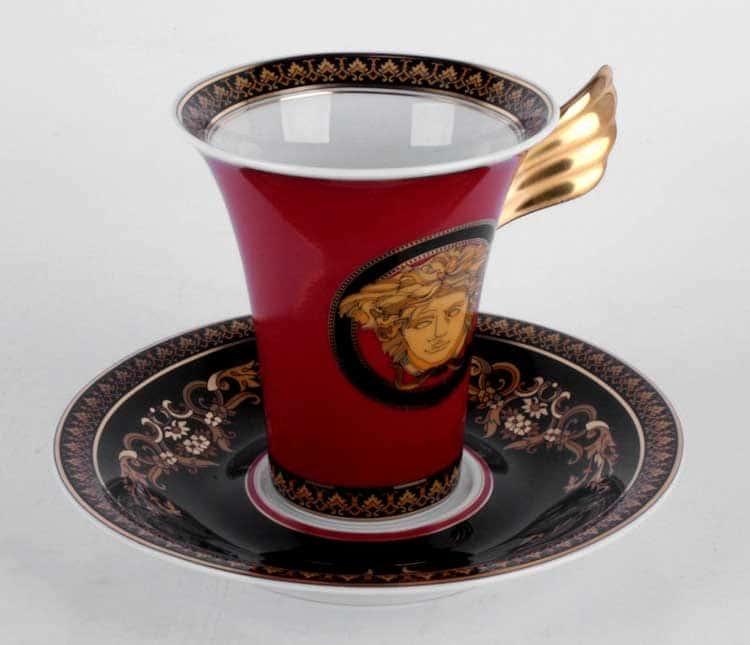 Медуза красная Кофейная пара Rosenthal Versace