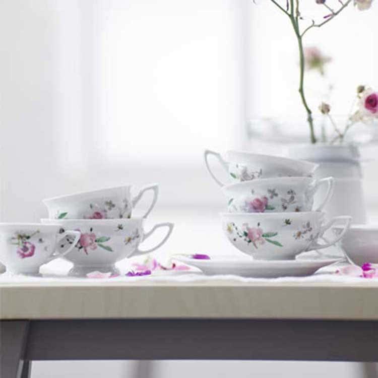 Пинк Розе Чайный сервиз Rosenthal Versace на 6 перс. 21 пред.