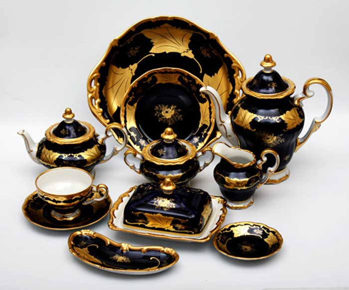 Кленовый лист синий Сервиз чайный Weimar на 6 персон 31 предмет