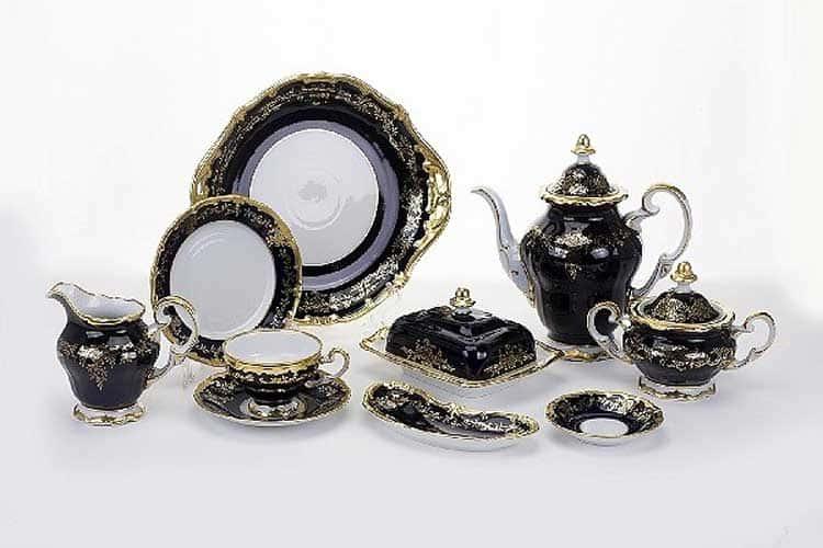 Ювел синий Чайный сервиз Weimar Porzellan 12 персон