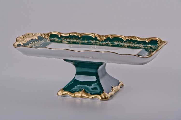 Ювел зеленый Рулетница Weimar Porzellan 36 см на ножке