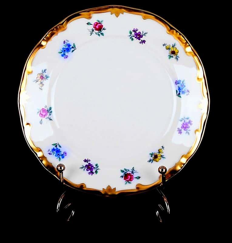 Мейсенский цветок Набор десертных тарелок 15 см Weimar