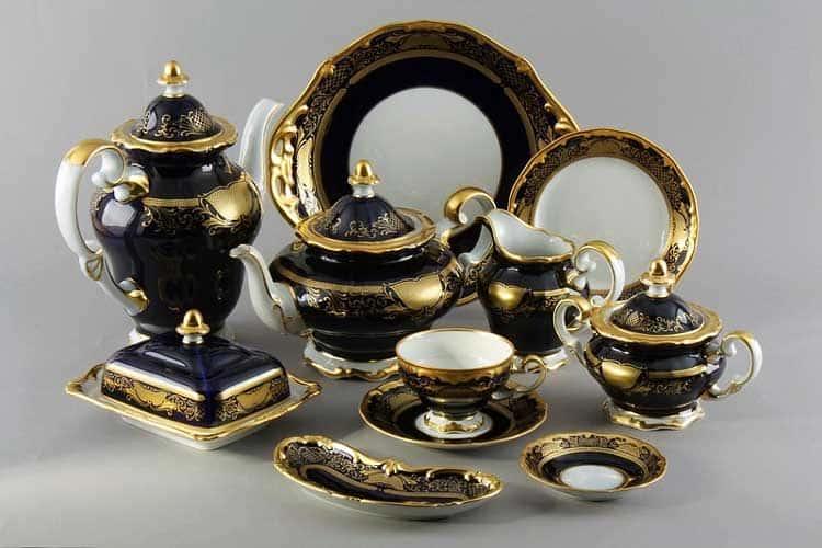 Симфония Кобальт Сервиз чайный Weimar на 6 персон 31 предметов