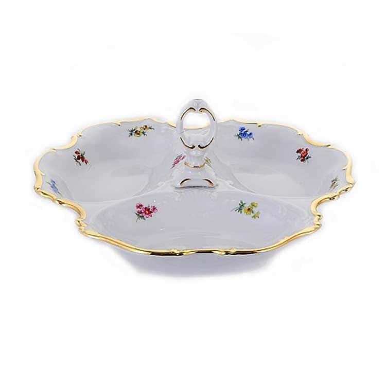 Блумен Менажница тройная 24 см Bavarian Porcelain