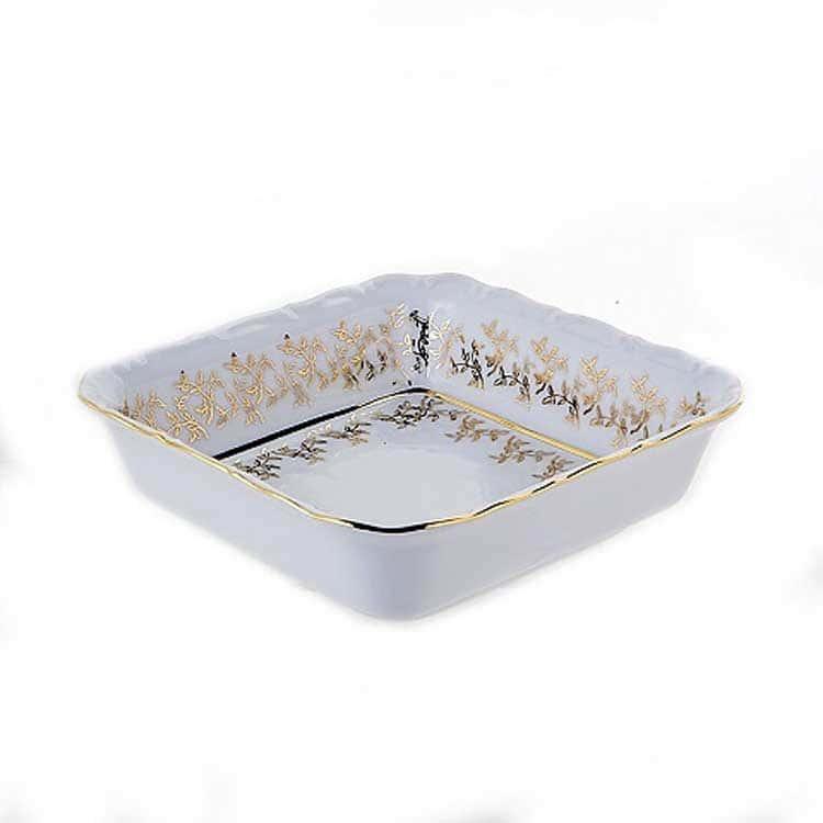 Лист белый Салатник квадратный Bavarian Porcelain 16 см.