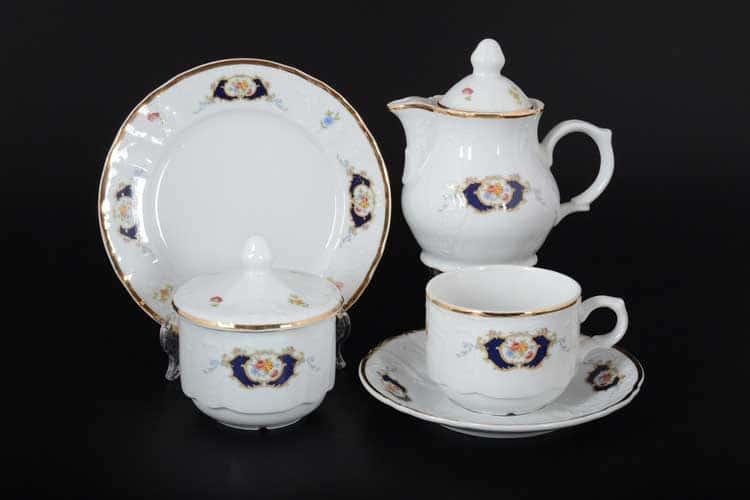 Бернадотт Синий глаз 6612 Чайный сервиз на 6 персон 22 предметов