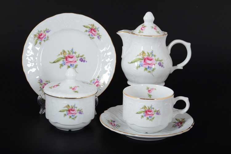 Бернадотт Полевой цветок 9011 Чайный сервиз на 6 персон 22 предметов