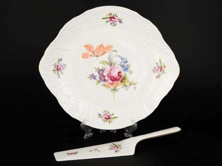 Бернадотт Полевой цветок Тарелка для торта 27 см с лопаткой