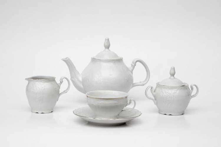 Бернадотт Отводка платина 311021 Чайный сервиз на 6 персон 17 предметов