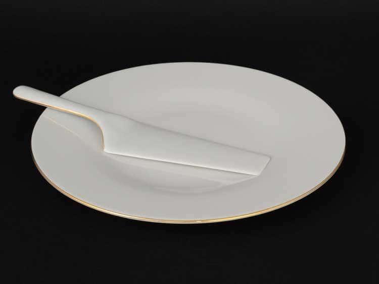 Бернадот белый 311011 Блюдо для торта 32 см с лопаткой