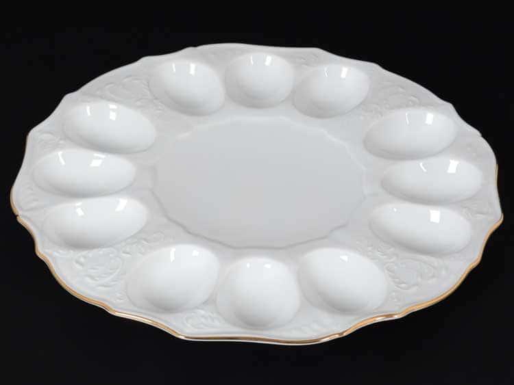 Бернадотт Белый узор 11011 Поднос для яиц 27 см