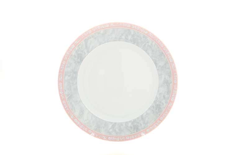 Яна Серый мрамор с розовым кантом Блюдо круглое 30 см Thun