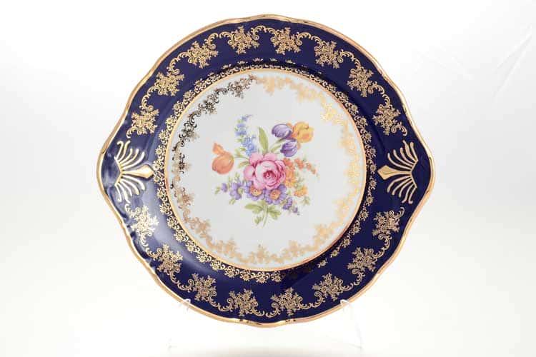 Констанция Кобальт Полевой цветок 7635500 Тарелка для торта 27 см Thun