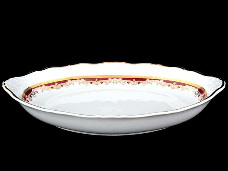 Мария Луиза Красная лилия Блюдо для хлеба 33 см Thun