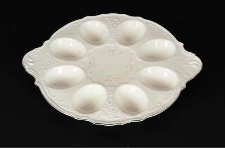 Бернадотт Платиновый узор BE-IVORY 3632021 Поднос для яиц 25 см