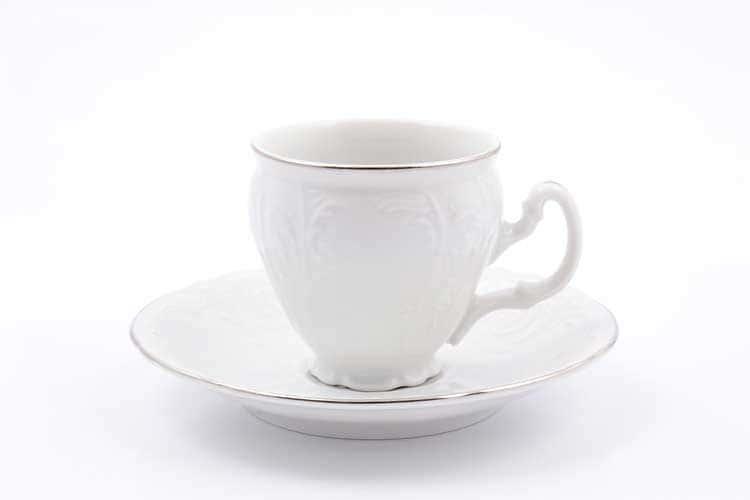 Бернадотт Отводка платина 311021 Набор кофейных пар 90 мл (6 пар)