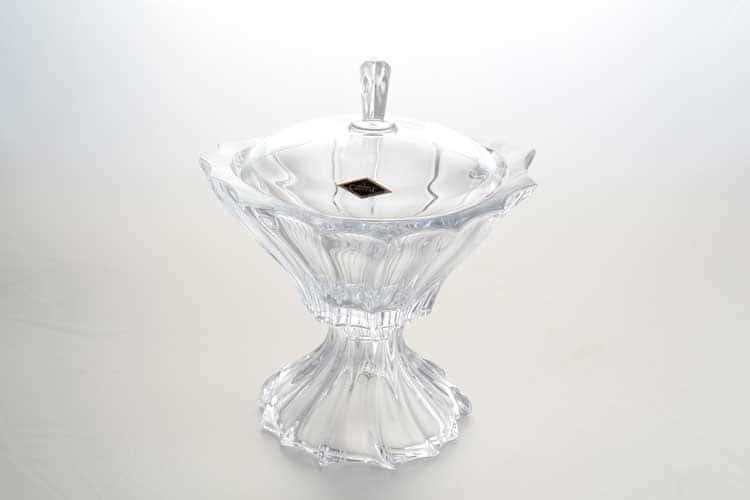 PLANTICA Конфетница с крышкой на ножке 22 см Aurum Crystal
