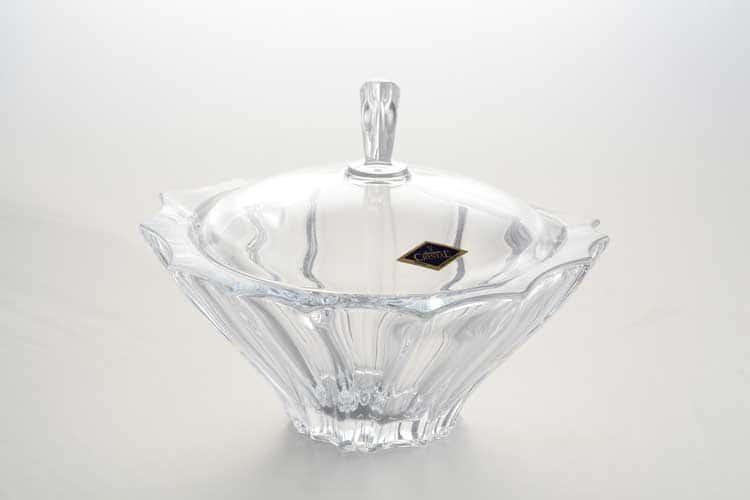 PLANTICA Конфетница с крышкой 22 см Aurum Crystal