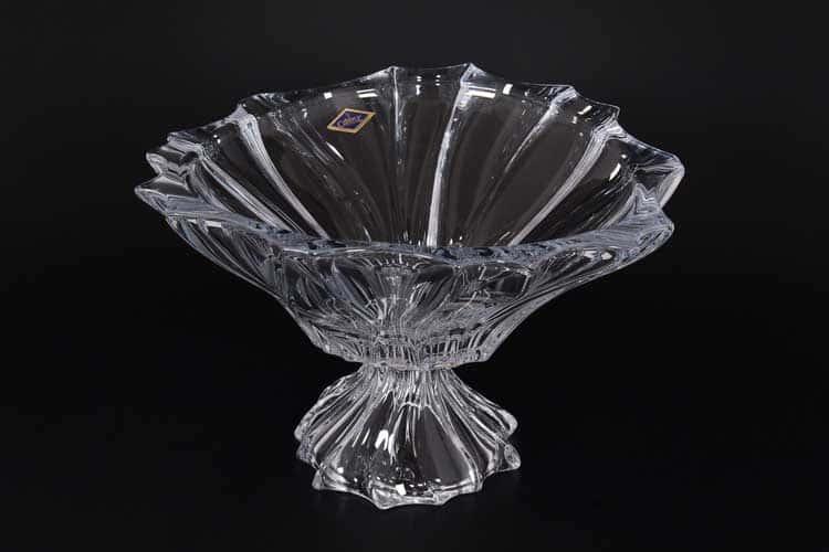ANTICA Фруктовница на ножке 32 см Aurum Crystal