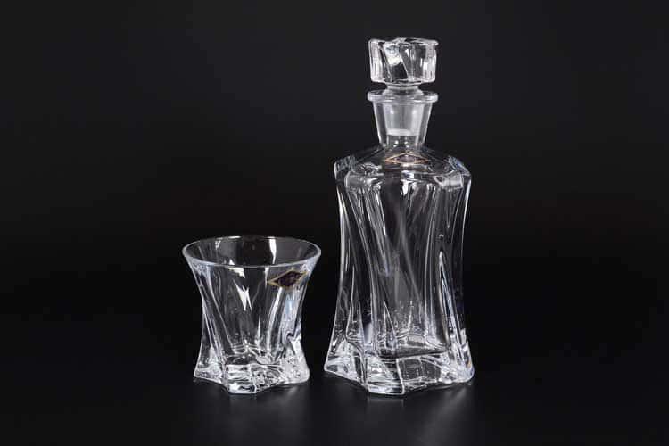 Angles Набор для виски 7 предметов Aurum Crystal