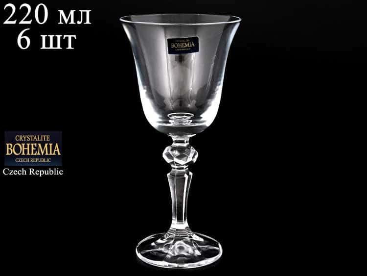 LAURA/FALCO Набор бокалов для вина 170 мл Crystalite Bohemia