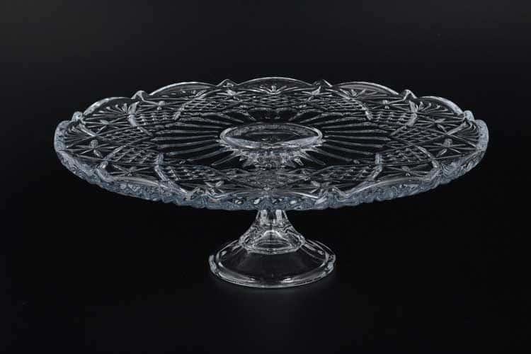 SIRIUS-NOVA Тарелка для торта Crystalite 31 см на ножке