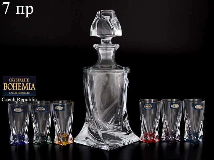 Quadro ассорти Набор для ликера Crystalite Bohemia 7 предметов
