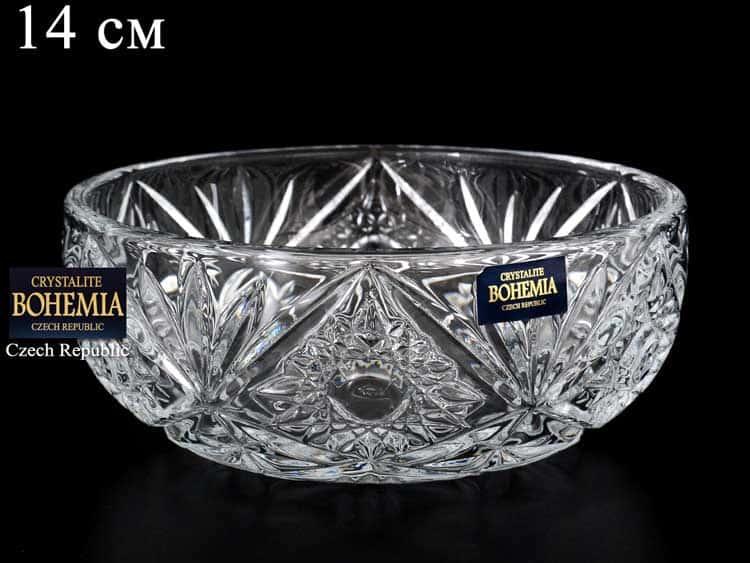 MIRANDA Салатник Crystalite Bohemia 14 см
