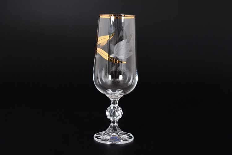 Идеал Матовый тюльпан Набор фужеров для шампанского Bohemia Crystal 280 мл 6 шт