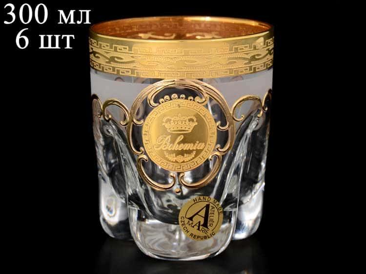 Трио Версаче Богемия A-M Набор стаканов для виски 300 мл (6 шт)