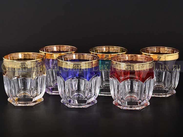 Сафари Арлекино BOHEMIA GOLD Набор стаканов для виски 250 мл