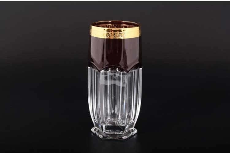 Сафари красный BOHEMIA GOLD Набор стаканов для воды