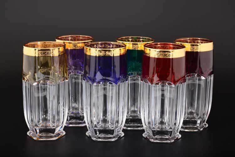 Сафари Арлекино BOHEMIA GOLD Набор стаканов для воды