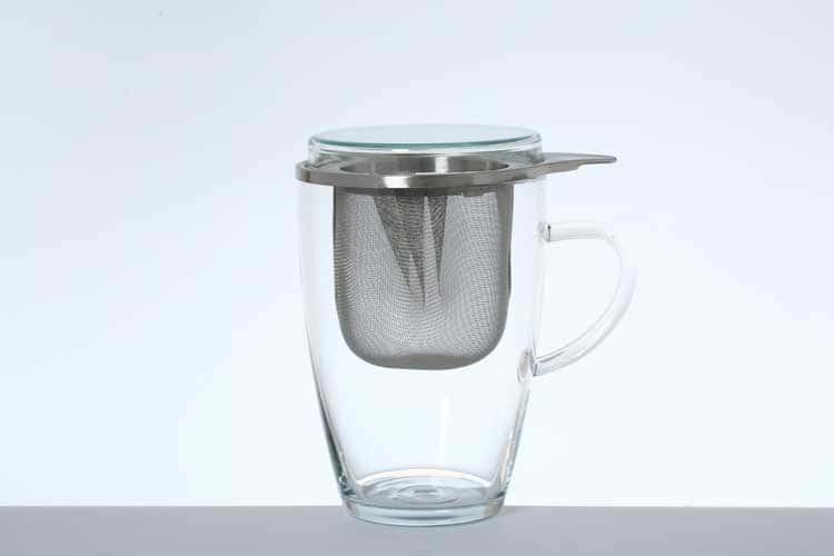 Симакс Кружка из жаропрочного стекла с ситом