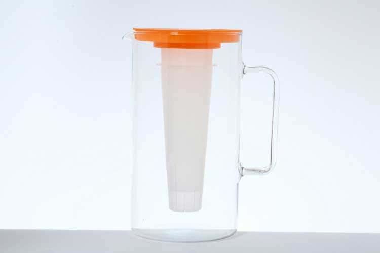 Симакс Графин для воды 2,5 л с красной крышкой и ёмкостью для льда