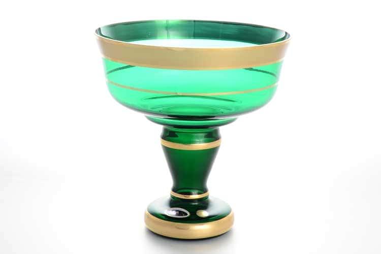 Star Crystal Зеленая Конфетница на ножке 20 см