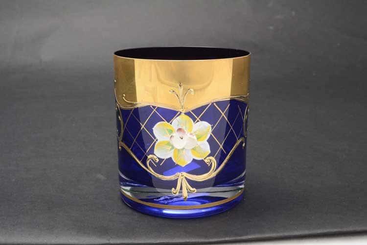 Лепка синяя U-R Набор стаканов для виски 280 мл (6 шт)