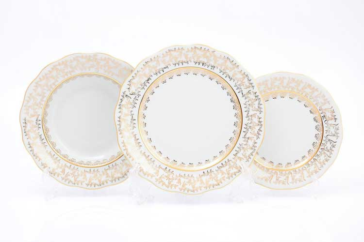 SYKORA Набор тарелок 19х23х25 см (18 шт)