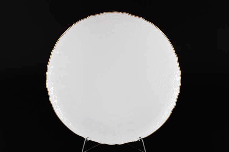 Белый узор Е-М Тарелка для торта 32 см Jeremy