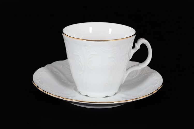 Белый узор Е-М Набор чайных пар 160 мл ведерко Jeremy
